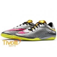 08cfdcfea Mega Saldão - Chuteira Nike Hypervenom Phelon Premium IC - Futsal Prata  677587 ...